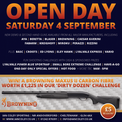 OPEN DAY – SATURDAY 4 SEPTEMBER